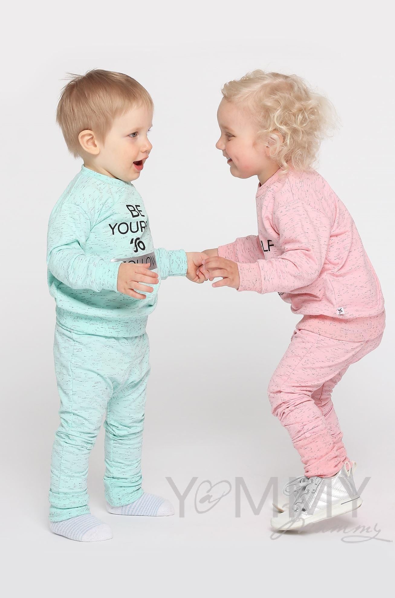 Изображение                               Детский костюм с принтом розовый