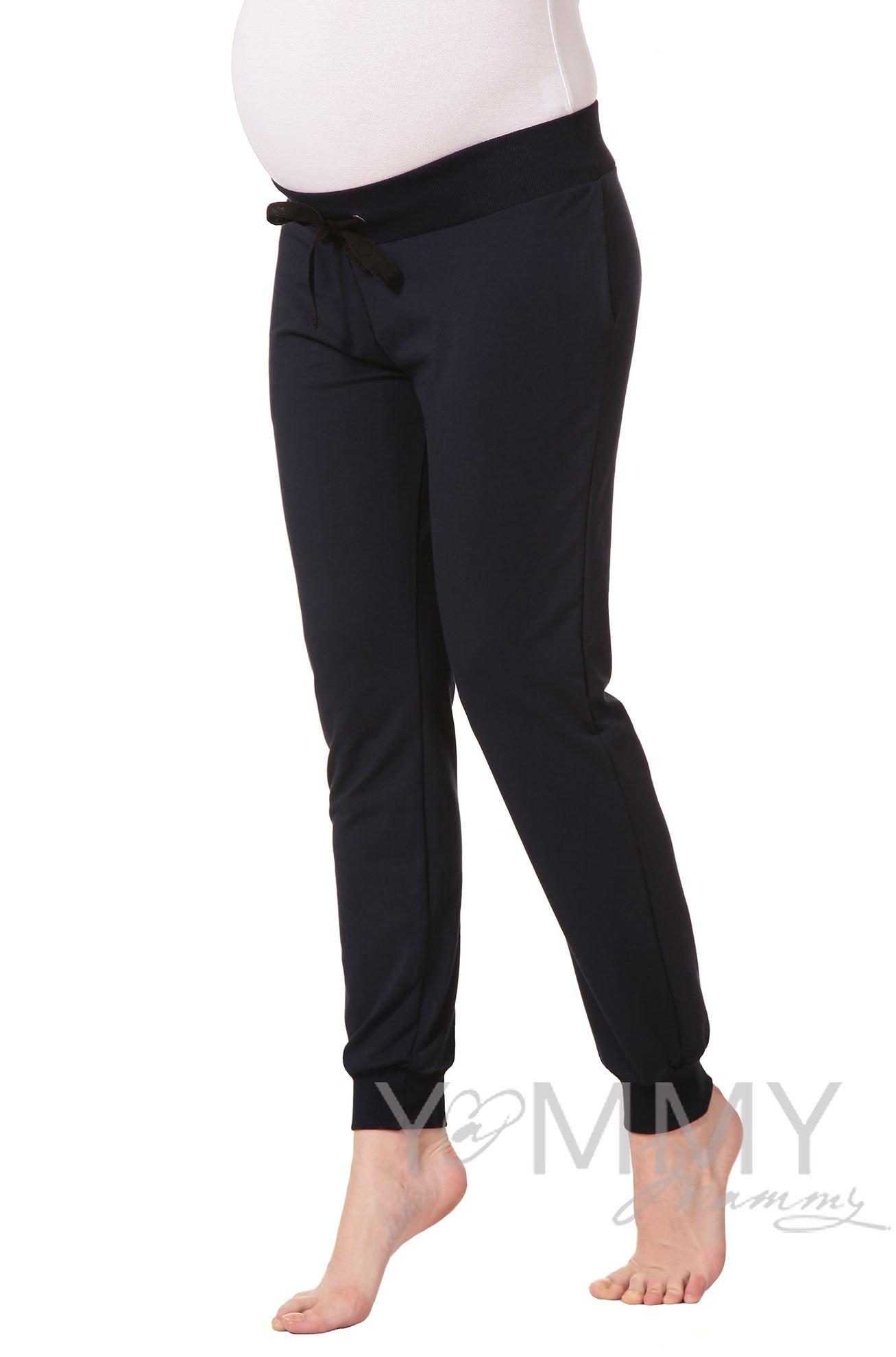 Изображение                               Универсальные спортивные брюки из футера темно-синие