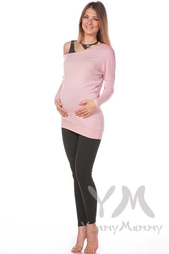 Изображение                               Лосины для беременных утепленные с начесом темно-серый меланж