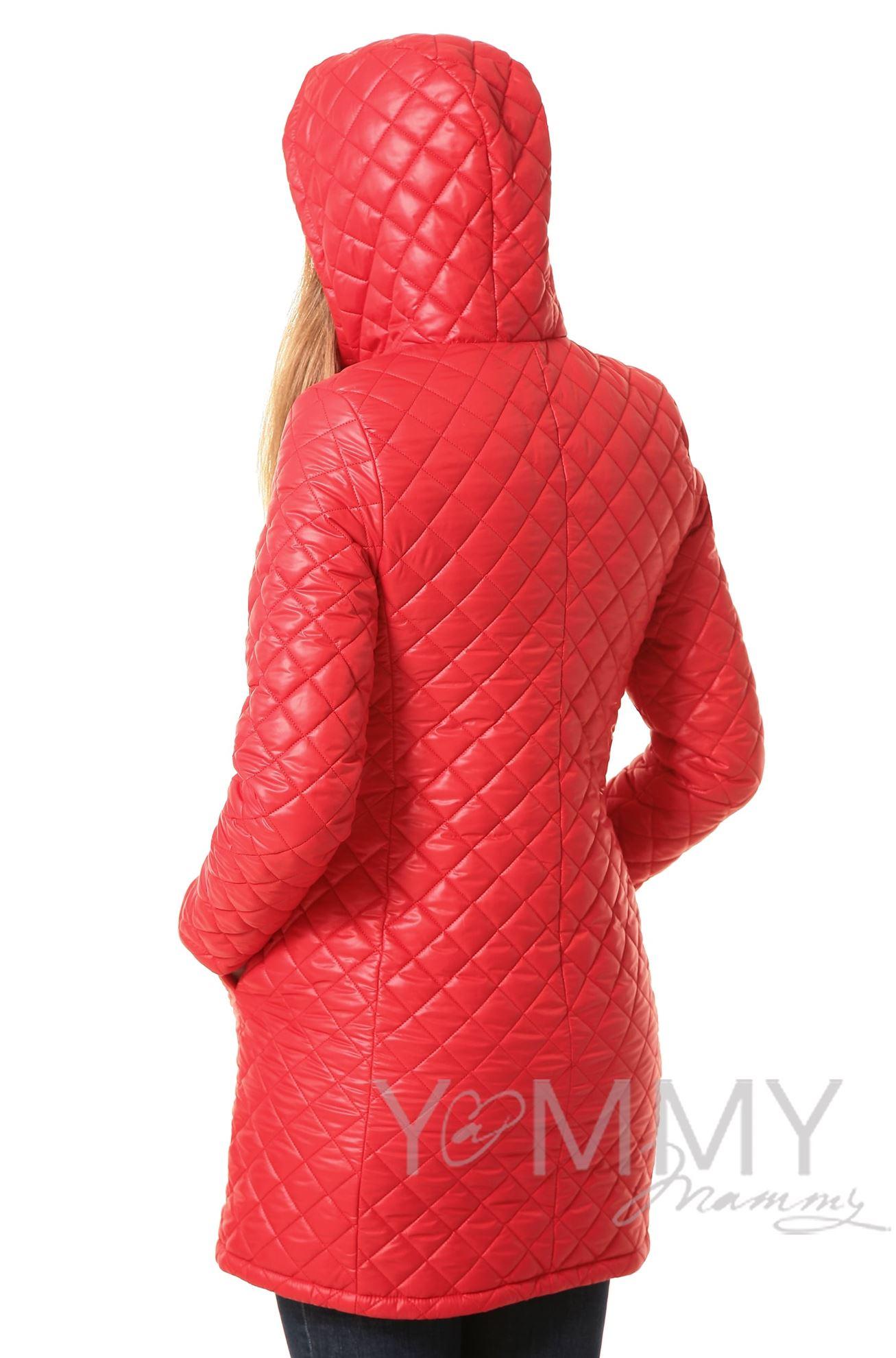 Изображение                               Куртка 3 в 1 стеганная красная