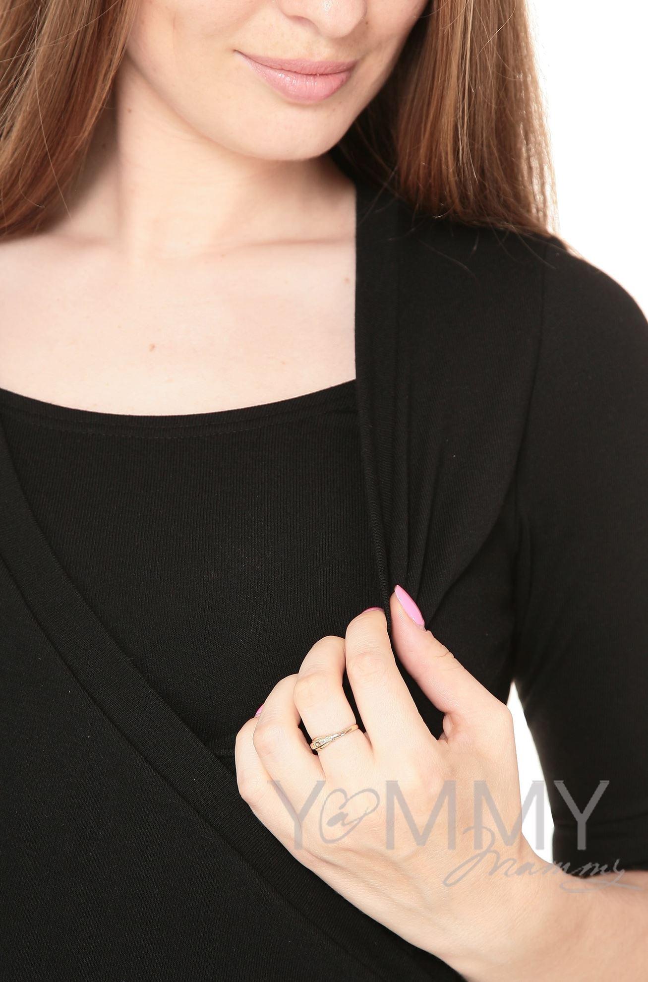 Изображение                               Платье со складками черное
