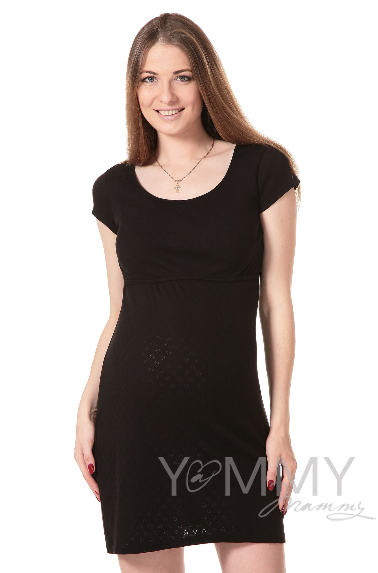 Изображение                               Платье для дома и сна ажурное черное