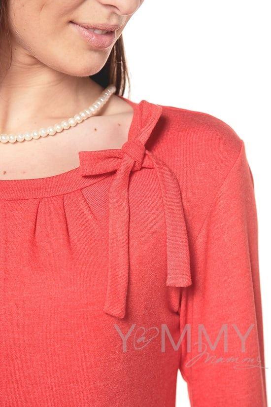 Изображение                               Блуза с бантом красный мак