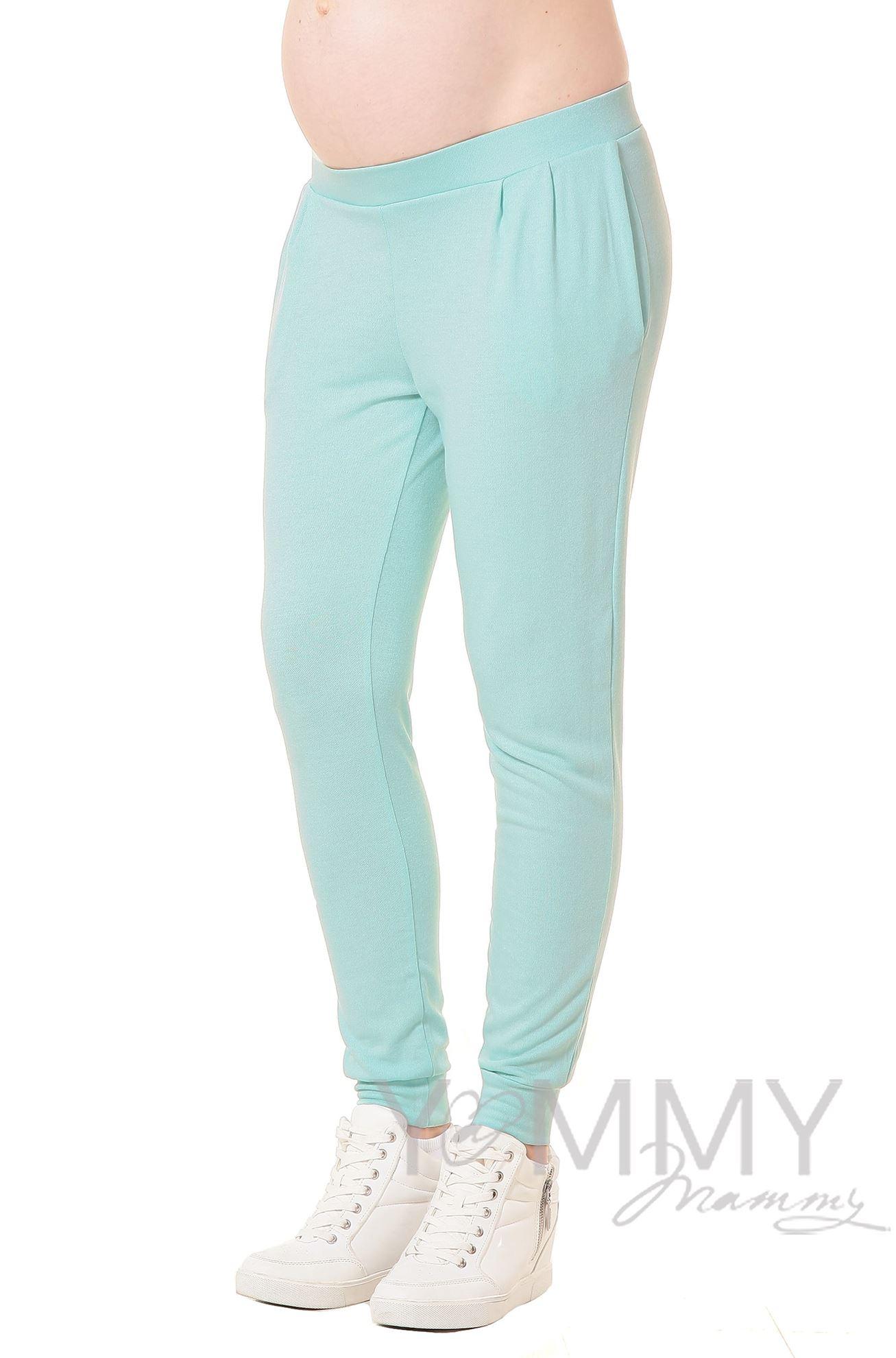 Изображение                               Универсальные брюки со складками ментоловые