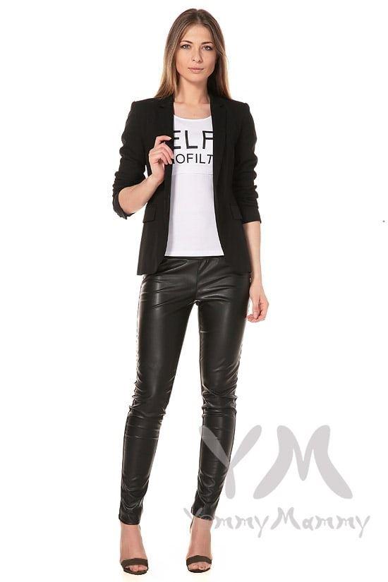Изображение                               Универсальные брюки из эко-кожи черные