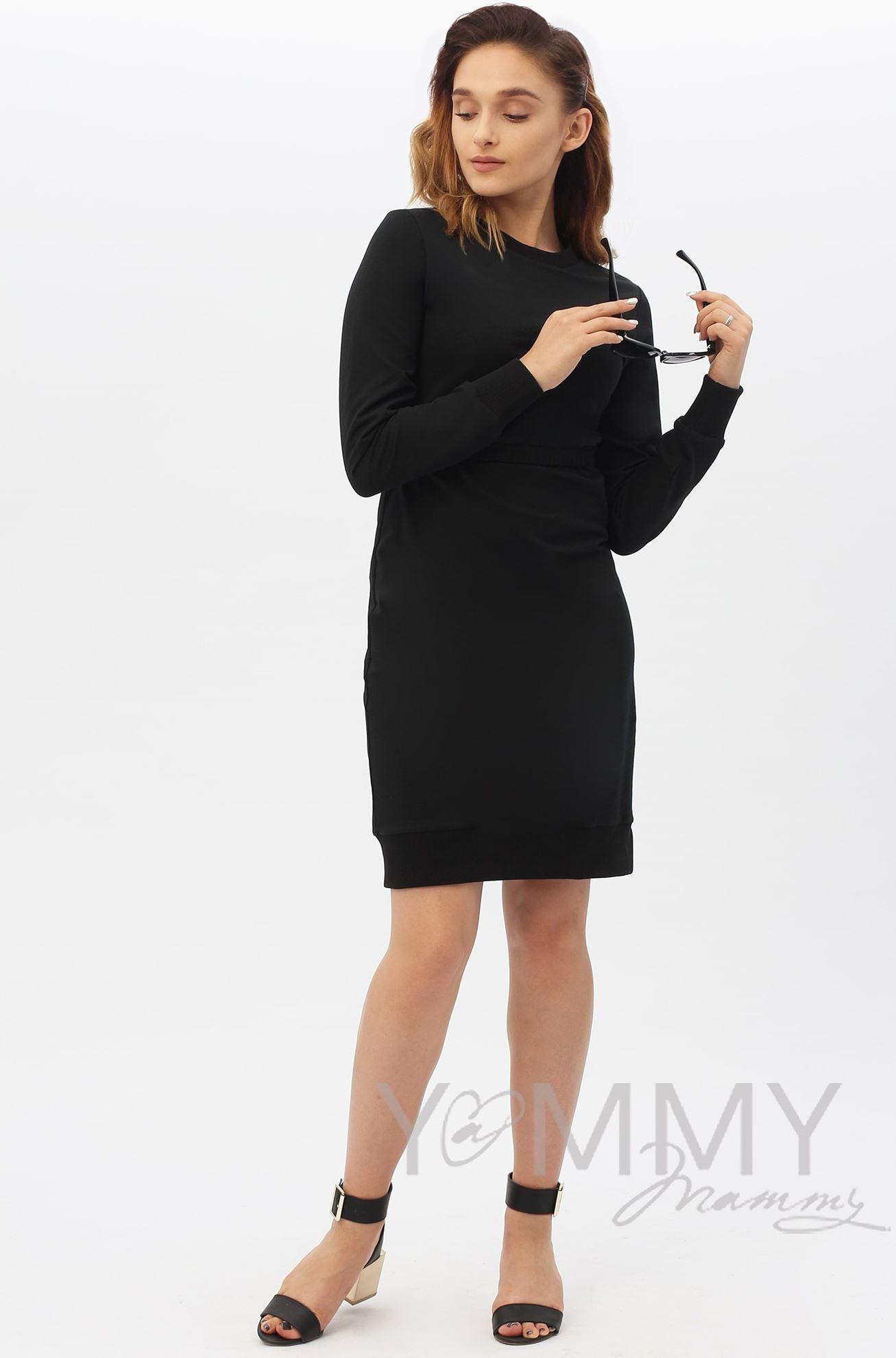 Изображение                               Платье футляр черное