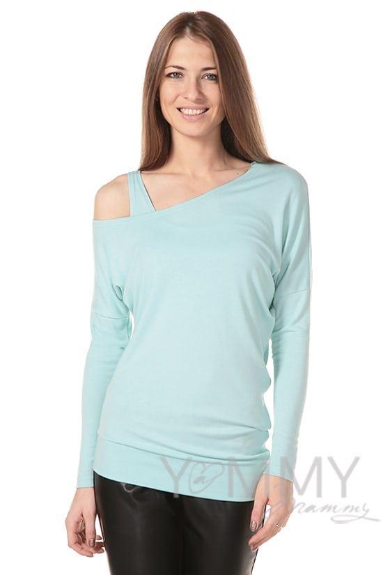 Изображение                               Блуза со спущенным плечом ментол