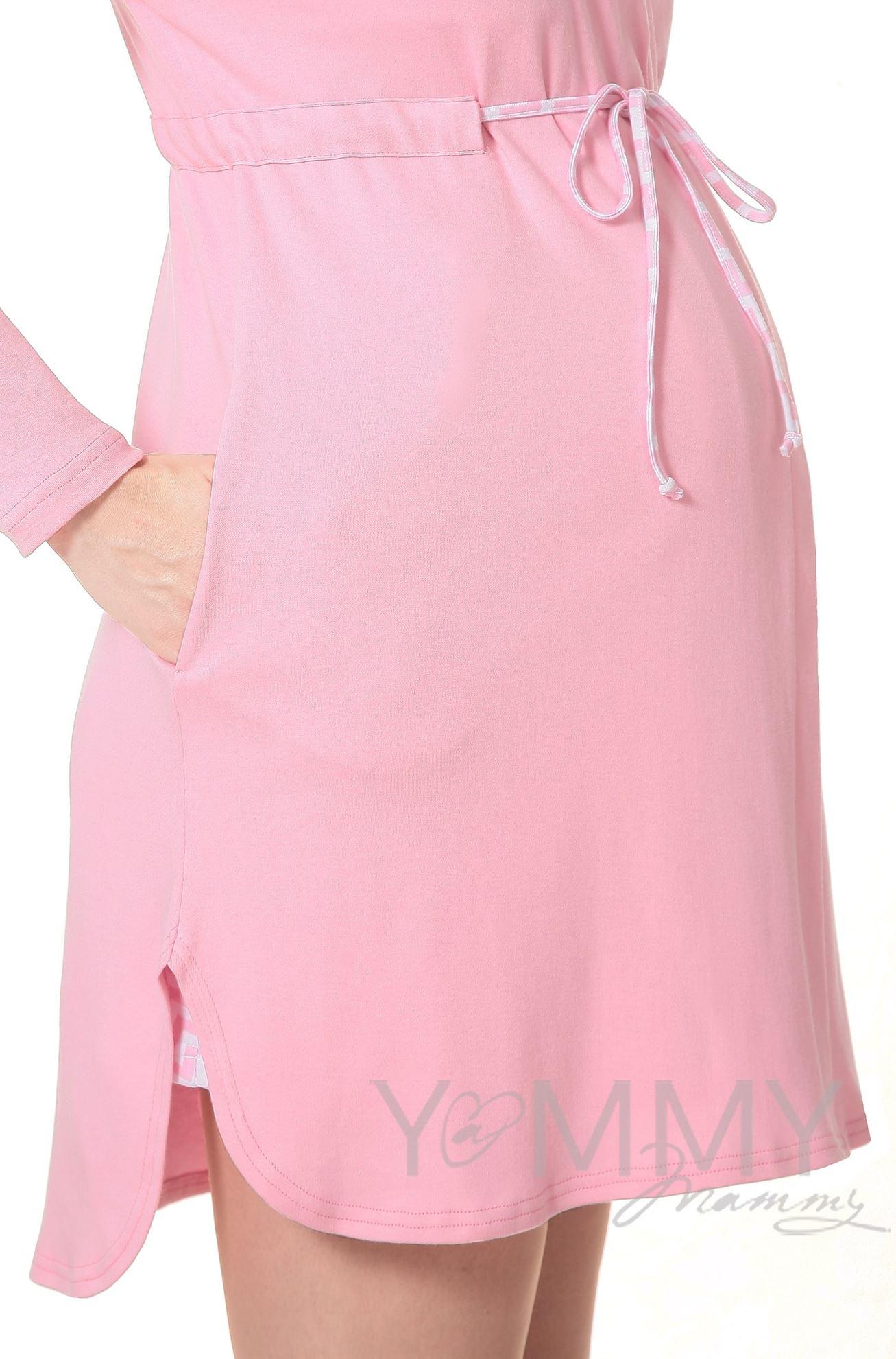 """Изображение                               Комплект халат с сорочкой розовый """"зиг-заг"""""""