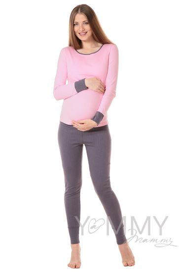 Изображение                               Комплект для дома серый / розовый горошек