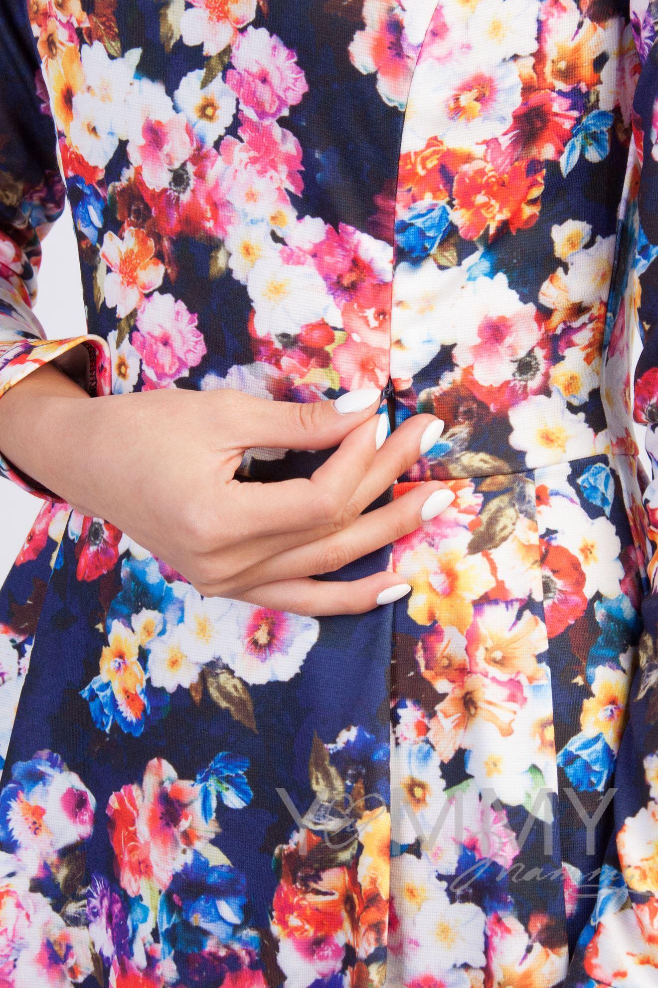 Изображение                               Платье со складками синий/цветы