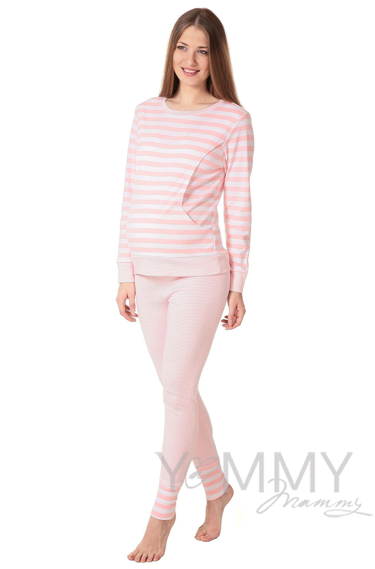 Изображение                               Комплект для дома розовая/белая полоска