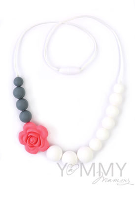 Изображение                             Слингобусы c цветком в розово-бело-серой гамме