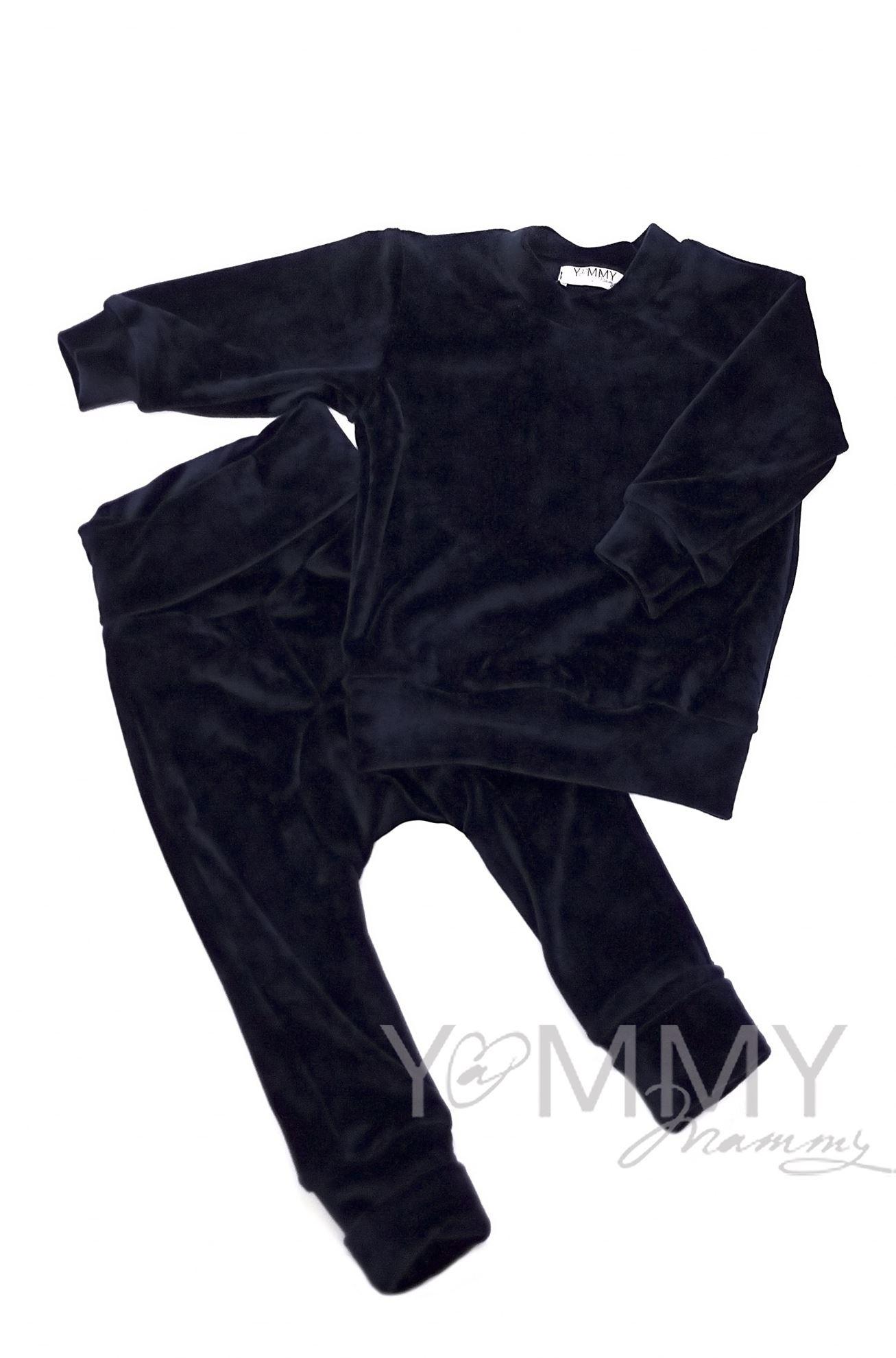 Изображение                               Детский велюровый костюм «хамелеон» темно-синий