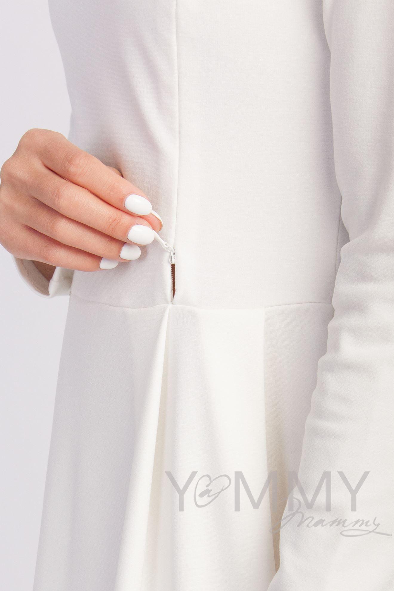 Изображение                               Платье со складками экрю