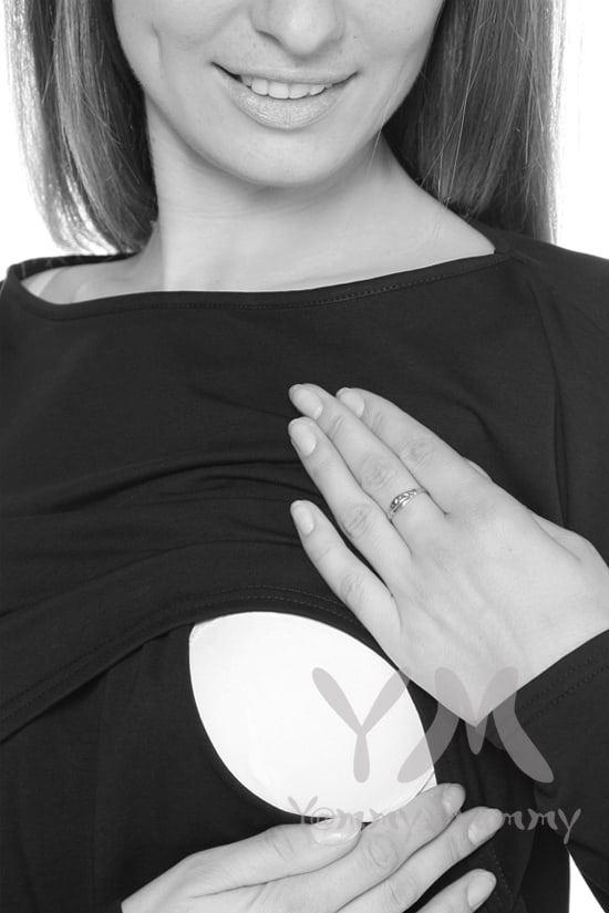 Изображение                               Платье с длинным рукавом чёрное