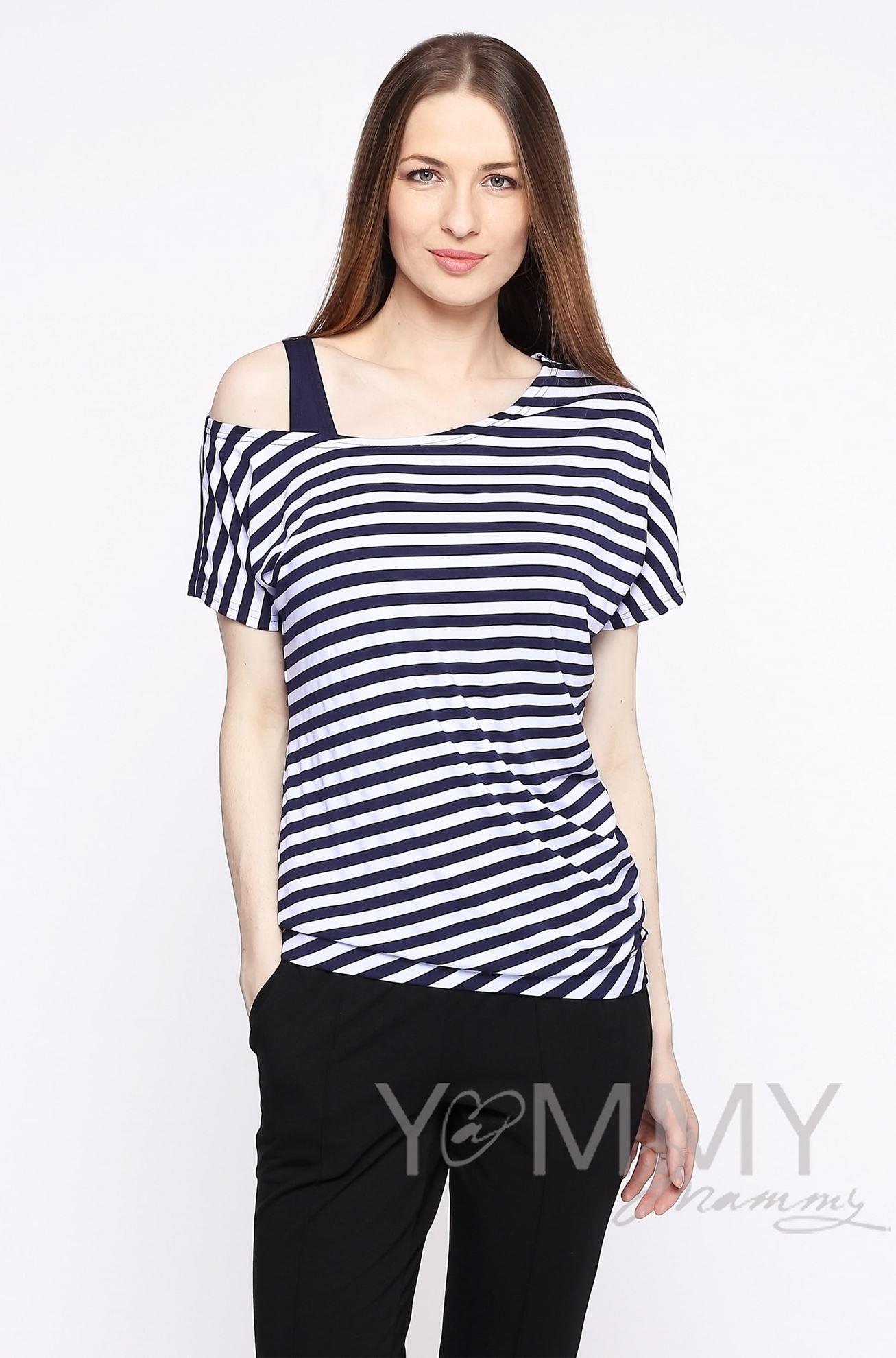 Изображение                               Блуза в полоску со спущенным плечом в комплекте с топом