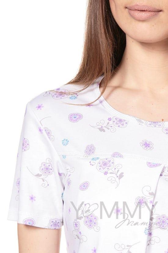 Изображение                               Сорочка с сиреневым цветочным принтом