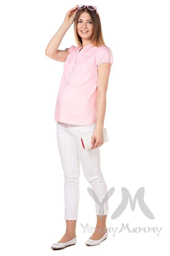 Изображение                               Рубашка с коротким рукавом розовая