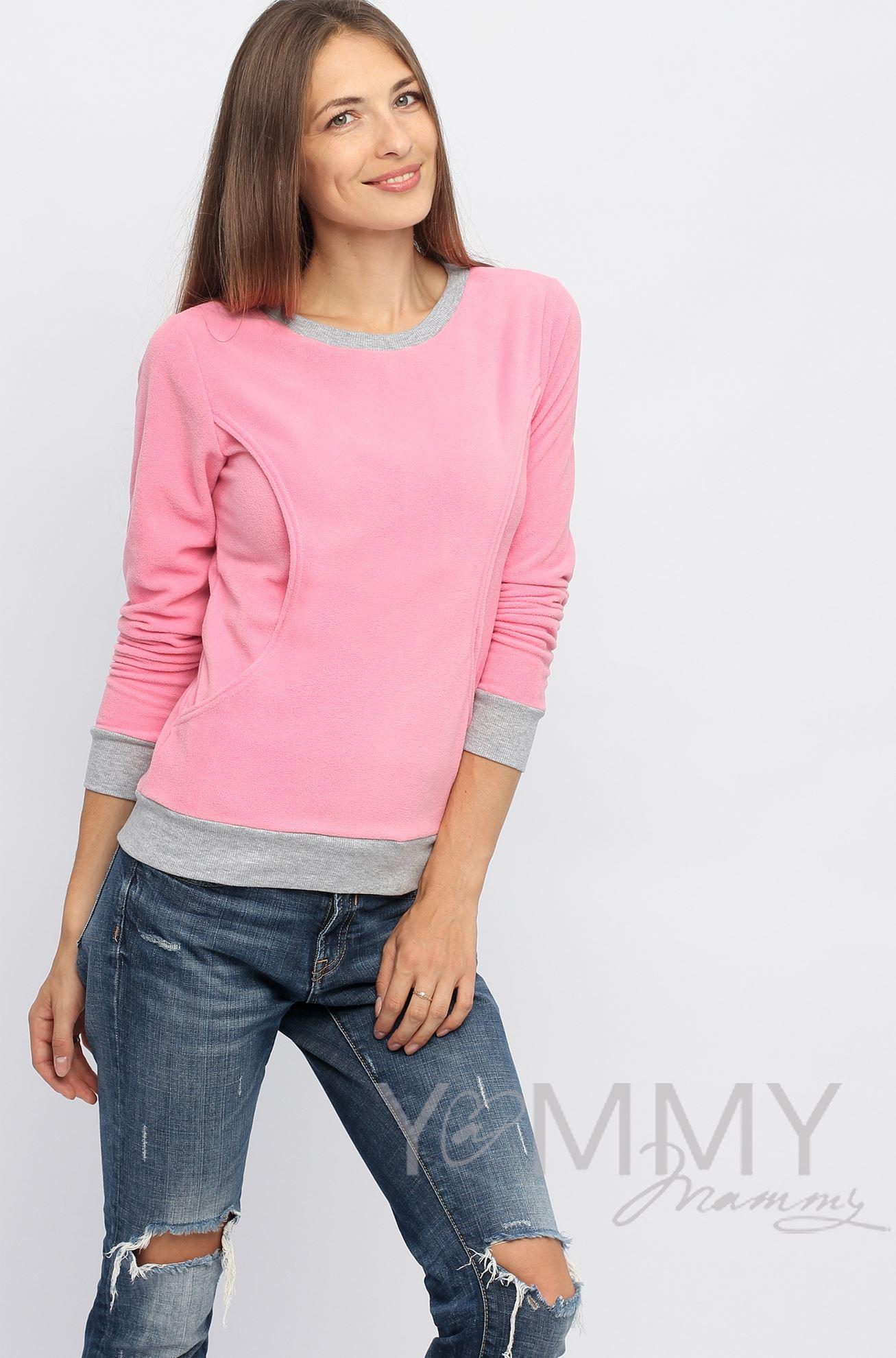 Изображение                               Джемпер флисовый розовый