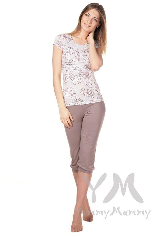Изображение                               Пижама капучино с цветочным принтом
