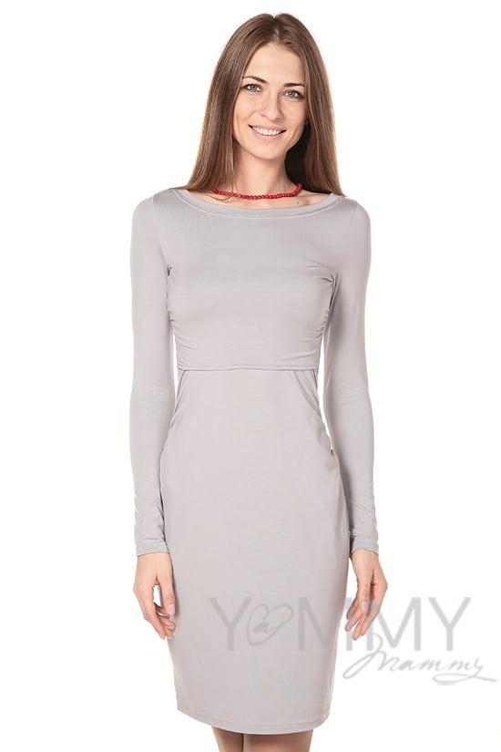 Изображение                               Платье из модала серый жемчуг