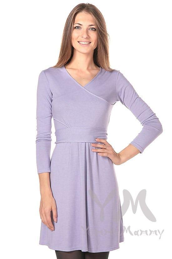 Изображение                               Платье с широким поясом лаванда