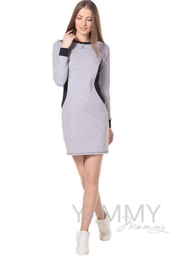 Изображение                               Платье спортивное серый меланж