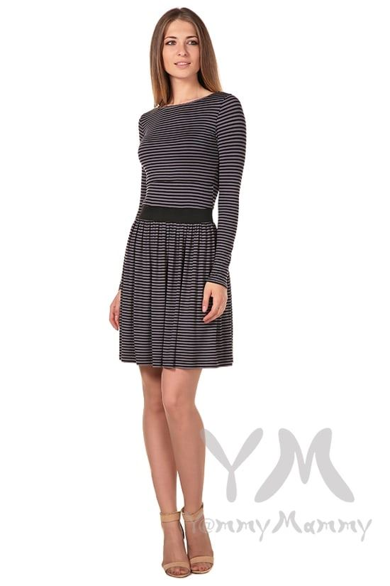 Изображение                               Платье в черную / серую полоску