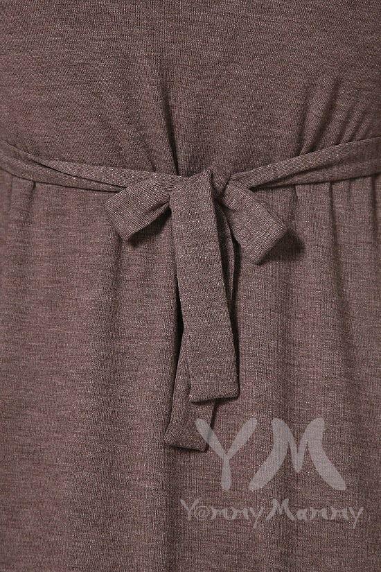 Изображение                               Платье мускат меланж с пояском на спине