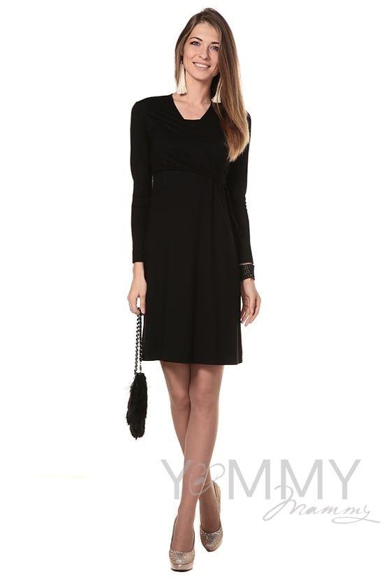 Изображение                               Платье на запах черное