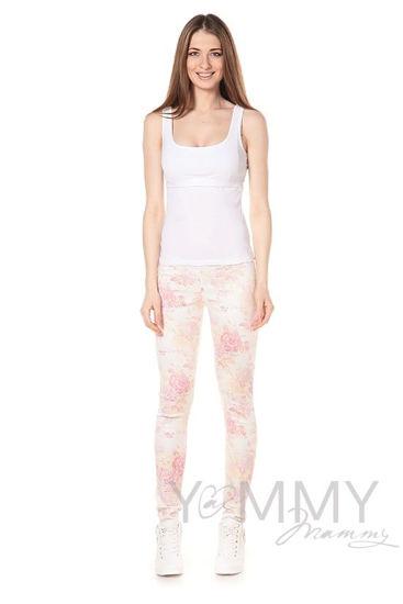 Изображение                               Универсальные брюки из джинсы с цветочным принтом