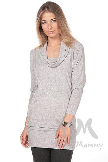 Изображение                               Платье-туника Хомут светло-серый меланж