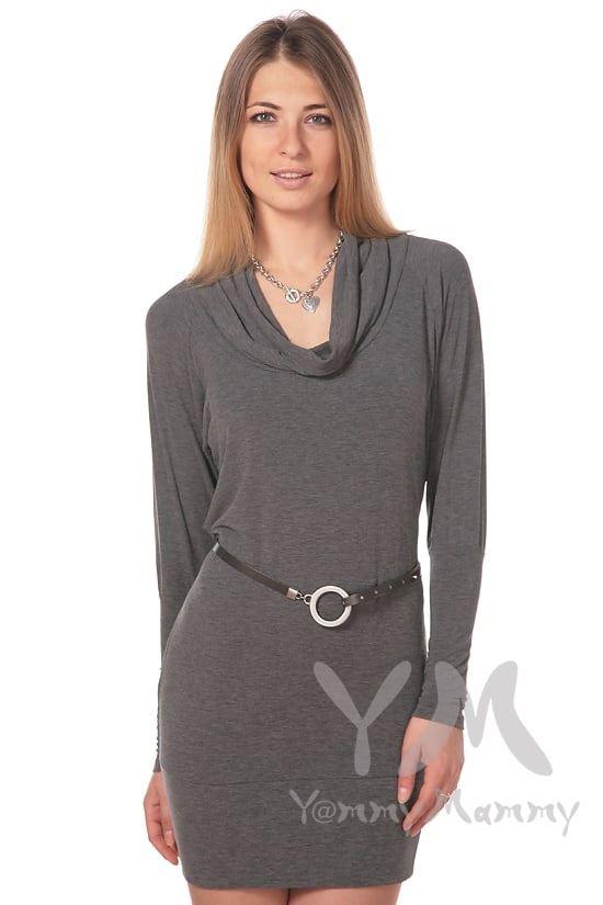 Изображение                               Платье-туника Хомут темно-серый меланж