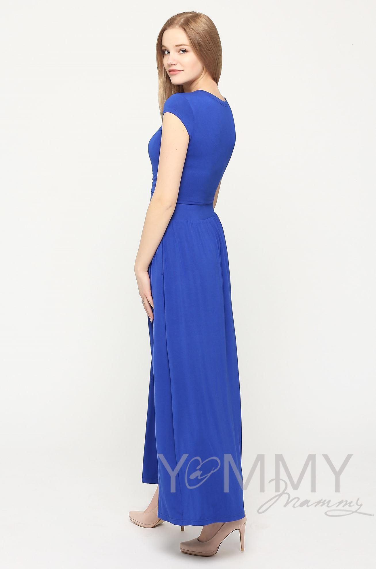 Изображение                               Платье длинное с карманам ультрамарин