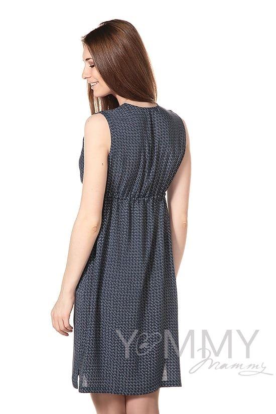 Изображение                               Платье с кулиской тёмно-синее