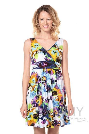 Изображение                               Платье-сарафан с лифом на запах крупные цветы