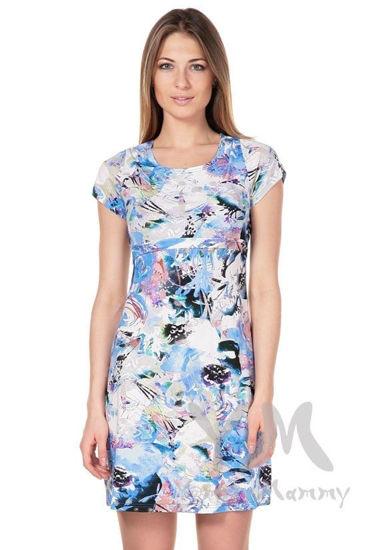 Изображение                               Платье с пояском с цветочным принтом