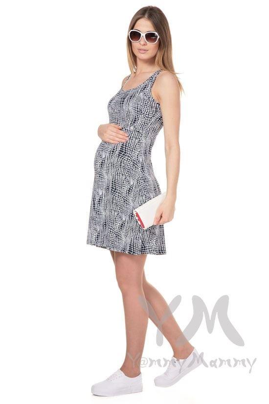 Изображение                               Платье-майка синий / белый рисунок