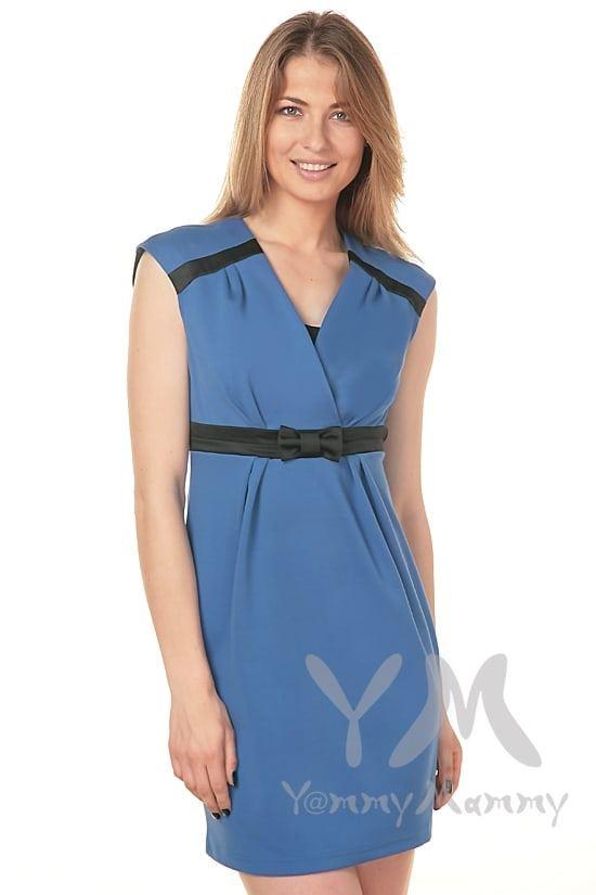 Изображение                               Платье с атласным бантиком ультрамарин