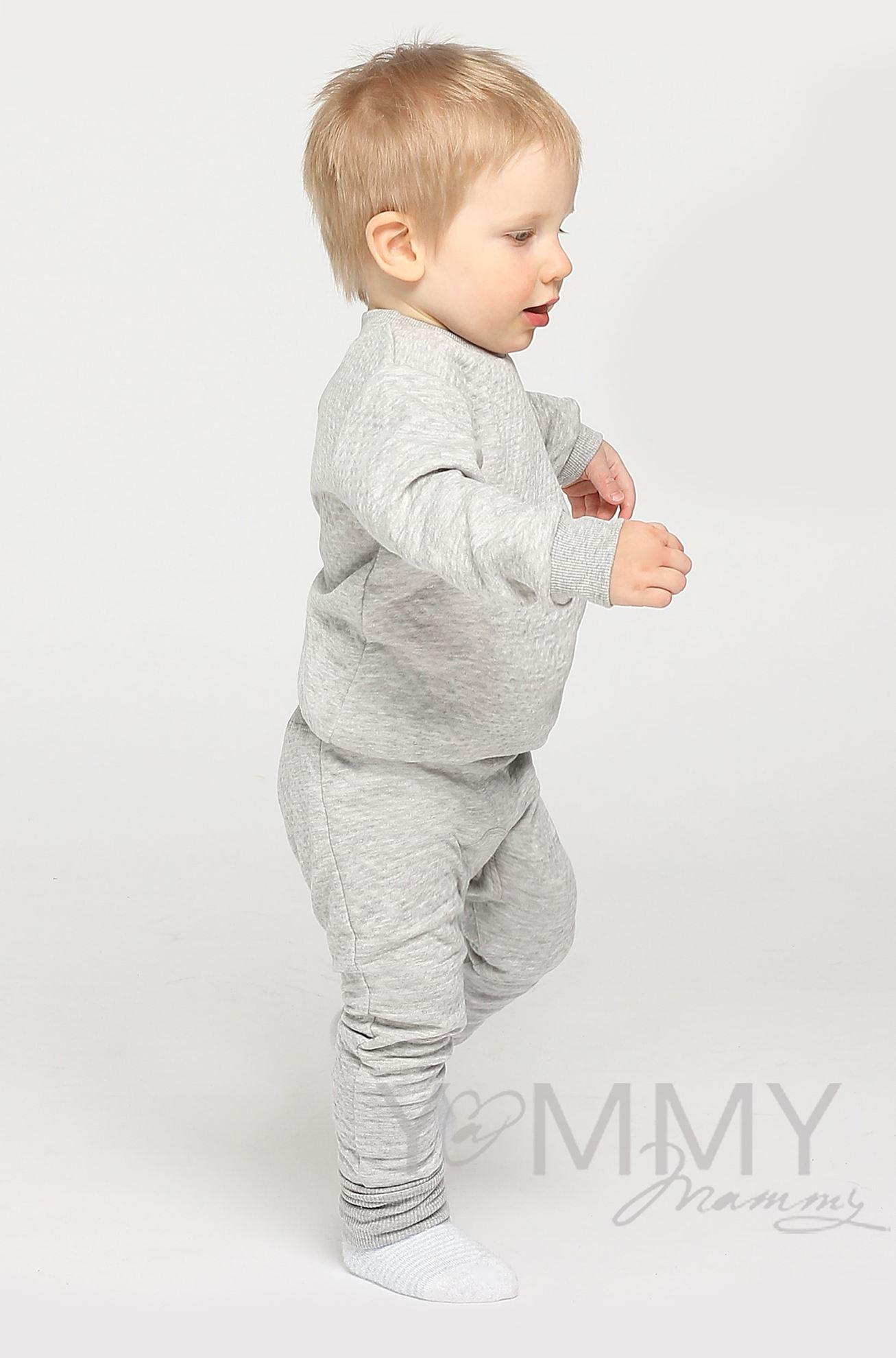 Изображение                               Костюм детский из капитония серый меланж
