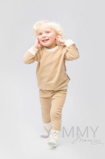Изображение                             Детский флисовый костюм песочный