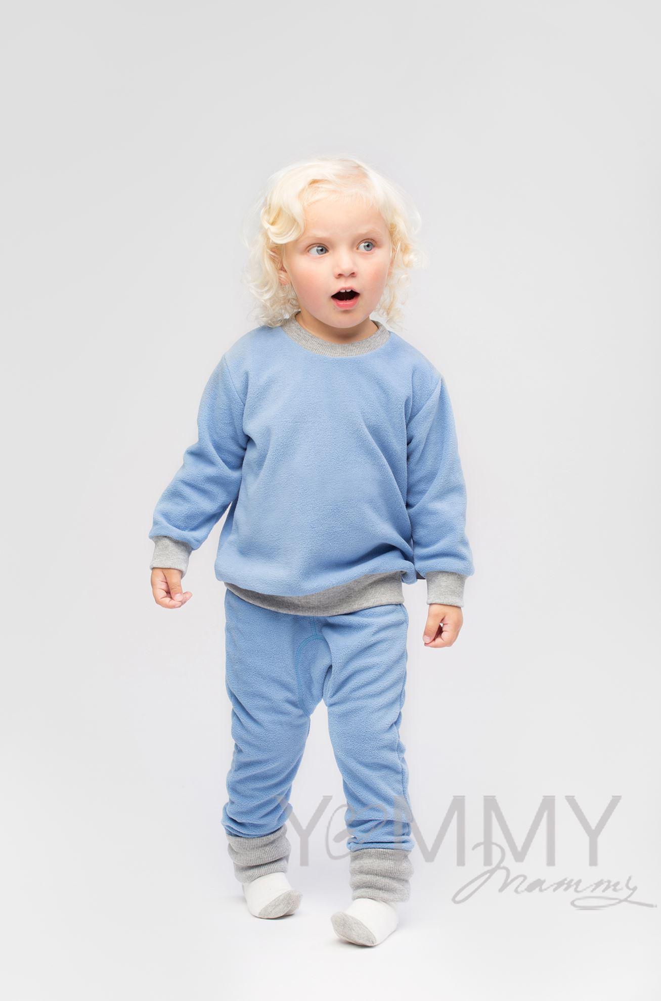 Изображение                               Детский флисовый костюм голубой