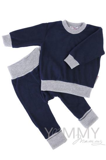 Изображение                             Детский флисовый костюм темно-синий