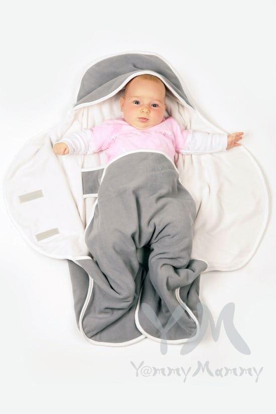Изображение                               Конверт-кармашек из флиса светло-серый