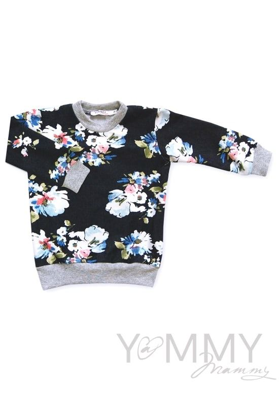 Изображение                               Детская толстовка джинсовая с белыми цветами