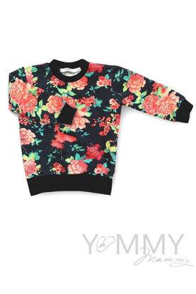 Изображение                               Детская толстовка джинсовая с цветочным принтом