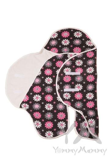Изображение                               Конверт-кармашек темно-серый с цветочками