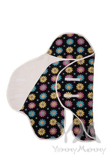 Изображение                             Конверт-кармашек темно-синий с цветочками