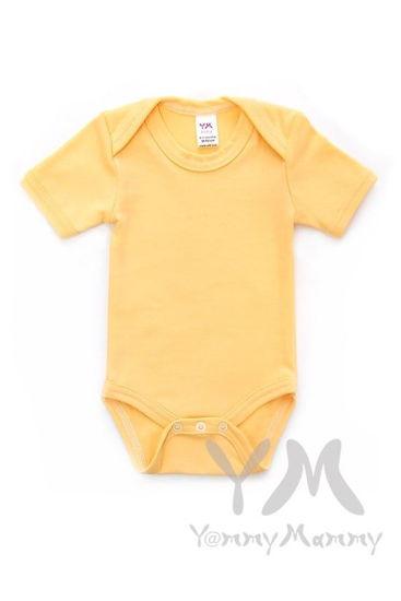 Изображение                             Боди с коротким рукавом желтое