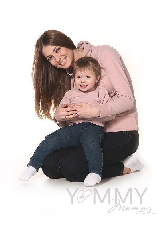 Изображение                               Детская толстовка жемчужно-розовая